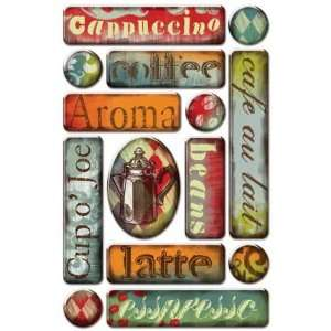 Marah Johnson Coffee House Epoxy Stickers  Arts, Crafts