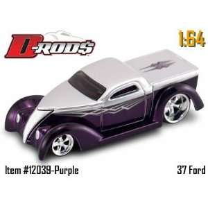 Jada Dub City D Rods Purple & Silver 37 Ford 164 Scale
