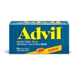 Advil Pain Reliever/Fever Reducer, 200 mg, Coated Caplets