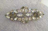 Vtg Art Deco Era Rhinestone Brooch Pin Needs a little TLC