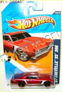 1967 67 CHEVY CHEVROLET CHEVELLE SS 396 HOT WHEELS HW DIECAST 2011