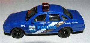 Loose Matchbox 2008 Blue Ford Crown Victoria Police Car