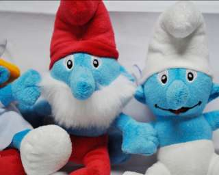 New Smurfs 10 soft plush toy doll_L4 3pcs