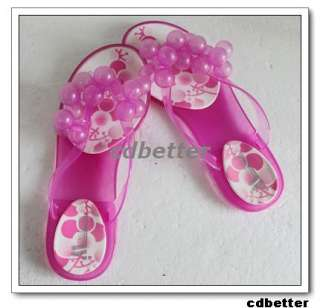 Womens Jelly Grapes Cute Flip Flops Sandals Slippers 8