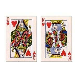 King and Queen of Hearts Fridge Magnet Set Everything