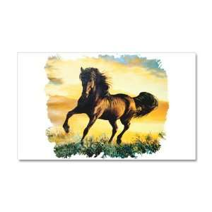 38.5 x24.5 Wall Vinyl Sticker Horse at Sunset Everything