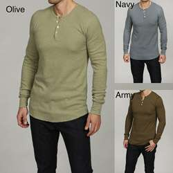 American Apparel Mens Thermal Henley Shirt