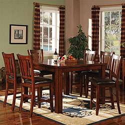 Americana Dark Oak 7 piece Pub Table Set
