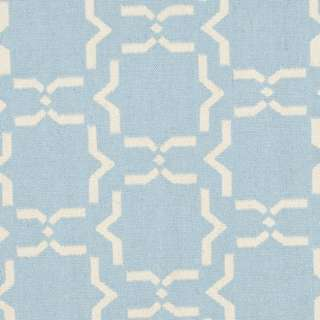 Moroccan Light Blue/ Ivory Dhurrie Wool Rug (6 Round)