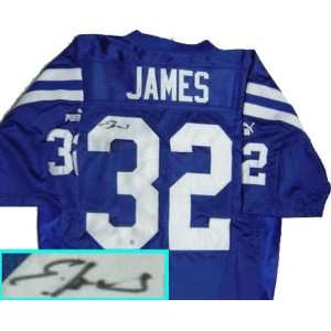 Edgerrin James Indianapolis Colts Autographed Blue Jersey