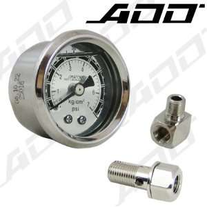 100 PSI Mechanical Liquid Filled Gauge Fuel Pressure Gauge