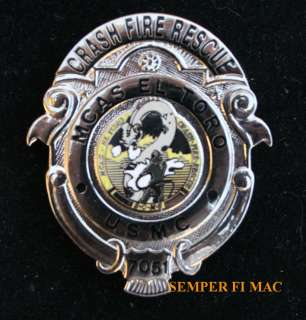 MCAS CRASH FIRE RESCUE MINI PIN US MARINES F 18 CH 53