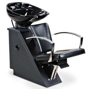 New Black Salon Shampoo Chair & Bowl Unit SU 56BLK