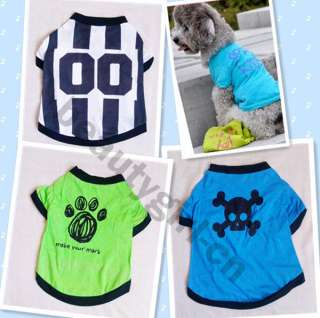 SO CUTE Pet Dog Clothes T Shirt Pirate Jersey XS S M