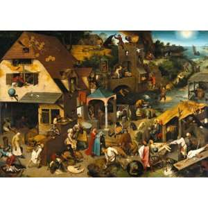 Bruegel Netherlandish Proverbs Wooden Jigsaw Puzzle Toys