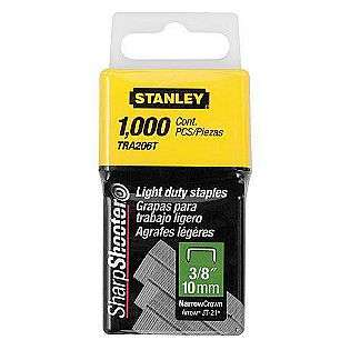 in. Light Duty Staples (Fit Stanley TR45 & Arrow JT 21 Tools)  Stanley