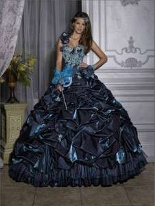 shoulder Fold Beaded Quinceanera/Wedding/Prom/Party dresses Ball Gowns