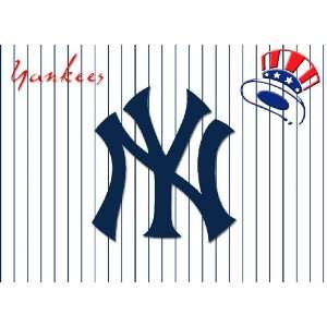 Unique Sports NEW YORK YANKEES Laptop Skin Decal 2   Leather Look