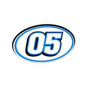 05 Number Jersey Nascar Racing   Blue   Window Bumper Sticker