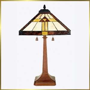 Tiffany Table Lamp, QZTF6074Z, G lights, Antique Bronze, 14 wide X 23