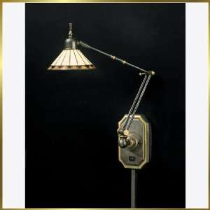 Tiffany Table Lamp, QZTF8156Z, 1 light, Antique Bronze, 6