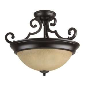 Traditional / Classic Two Light Down Lighting Semi Flush Ceiling Fix