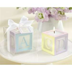 Baby Block Candle Favor