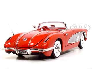 1958 CHEVROLET CORVETTE 118 SCALE DIECAST MODEL RED