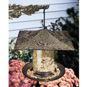 Whitehall 6 Inch Oakleaf Tube Bird Feeder   Oil Rub Bronze
