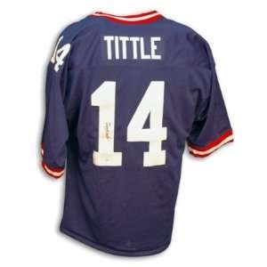 Y.A. Tittle Signed New York Giants NFL t/b Jersey