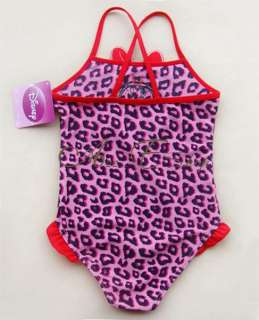 Leopard Minnie Mouse Girls SIZE 2 7Y Swimsuit Swimwear Swim Costume