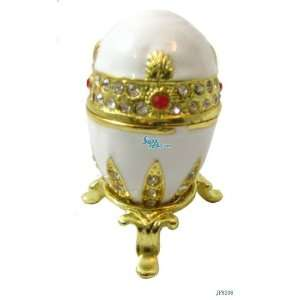Golden Egg Bejeweled Swarovski Crystal Diamond Jewelry Trinket Box
