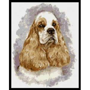 Red Cocker Spaniel Dog Counted Cross Stitch Kit