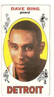 1969 70 Dave Bing Topps Rookie Basketball Trading Card #55