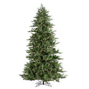 STERLING, INC. 10 ft. Pre Lit Natural Cut Layered Green River Spruce