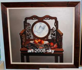 Original Oil painting Still life artChairon canvas 30x30