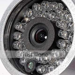 30 LED Color CCTV Security IR Video Audio Camera NTSC