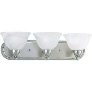 Progress Lighting Avalon Collection Brushed Nickel 3 light Fluorescent