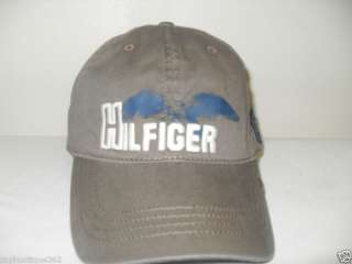 NWT TOMMY HILFIGER BROWN MENS BASEBALL CAP HAT W/ LOGO
