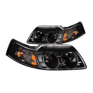 Anzo USA 121042 Ford Mustang Projector Black Headlight Assembly