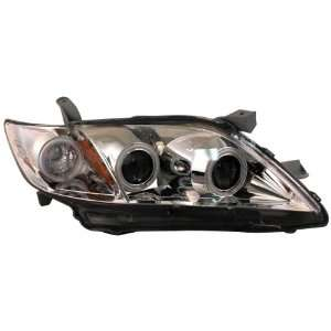 Anzo USA 121222 Toyota Camry G2 Chrome Clear Projector With Halos