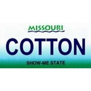 Missouri State Background License Plates   COTTON Plate Tag Tags auto