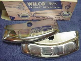 Station Display Accessory Chrome Dual Exhaust Tips 1950s