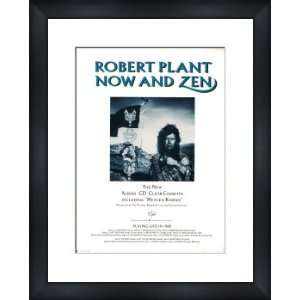 ROBERT PLANT Now And Zen   Custom Framed Original Ad