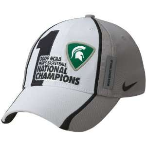 Nike Michigan State Spartans White Gray 2009 NCAA Mens