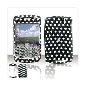 Black and White Polka Dot Case Cover Snap On Protective for BlackBerry