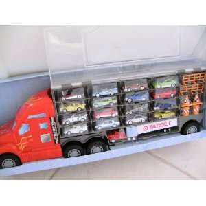 Truck Carry Case with 17 Diecast Cars + 6 Accessories Toys & Games
