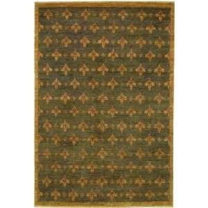 Couristan   Chobi Fleur De Lis Dark Brown Rug Furniture & Decor