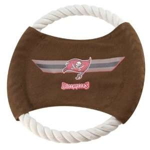 Tampa Bay Buccaneers 9 Flying Rope Football Disk Dog Toy