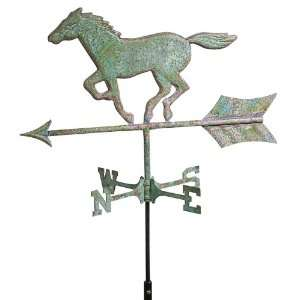 Good Directions Horse Weathervane Weathered Copper